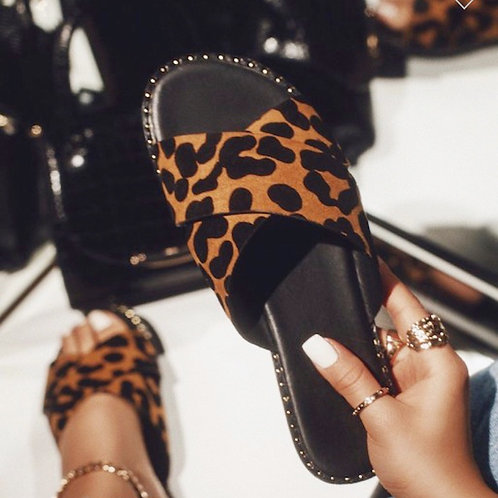 Leopard Slide Sandal