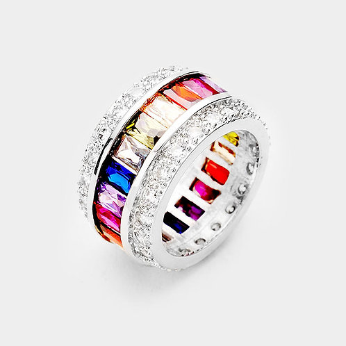 Mother's Ring Band - Silver