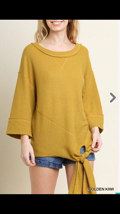 Mustard Thermal with Tie