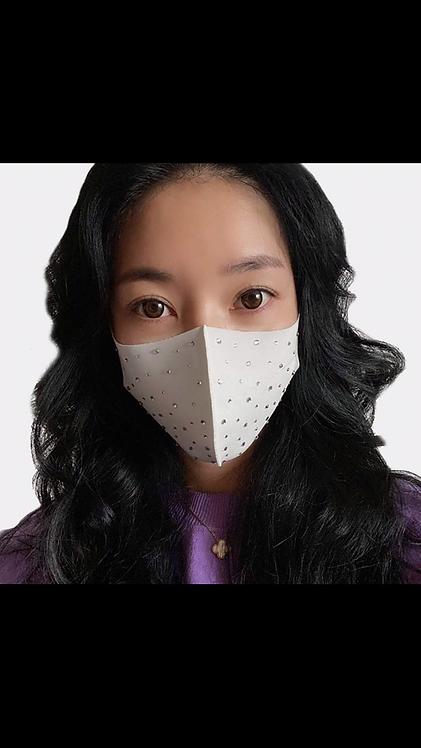 Bling Face Mask - White