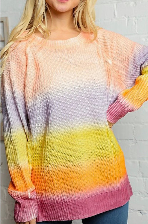 Sherbet Colorblock Sweater