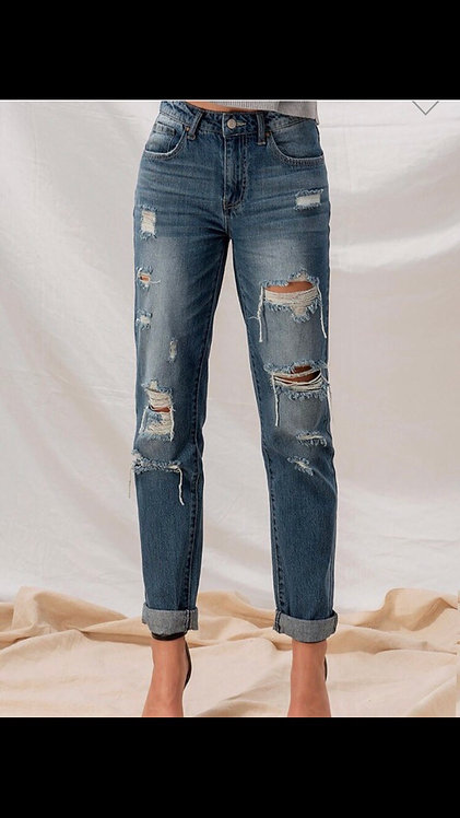 Boyfriend Distressed Denim