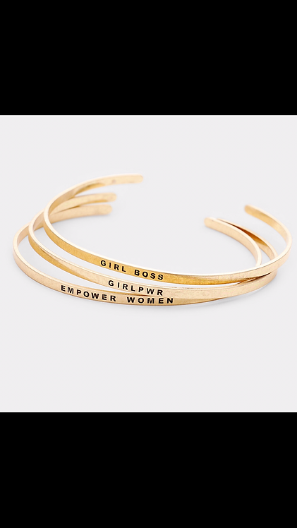 Power Bangle Set - Gold