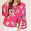 Thumbnail: Floral Kimono Style Blouse