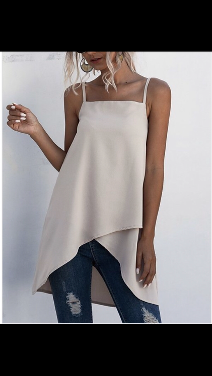 Taupe Skinny Strap Tunic