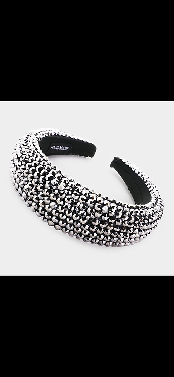 Super Bling Thick Headband - Gunmetal