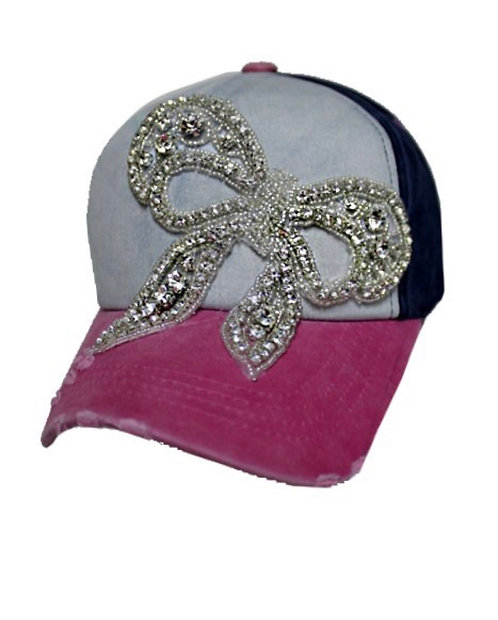 Bling Bow Hat - Pink