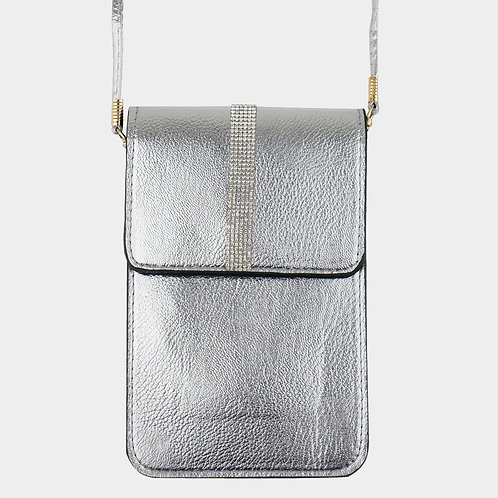 Cell Holder / Purse - Silver