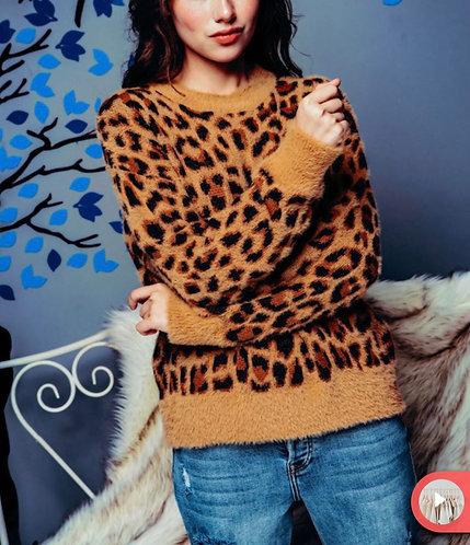 Leopard Fuzzy Sweater