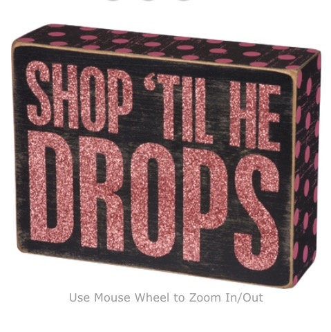 Glitter Box Sign - Shop
