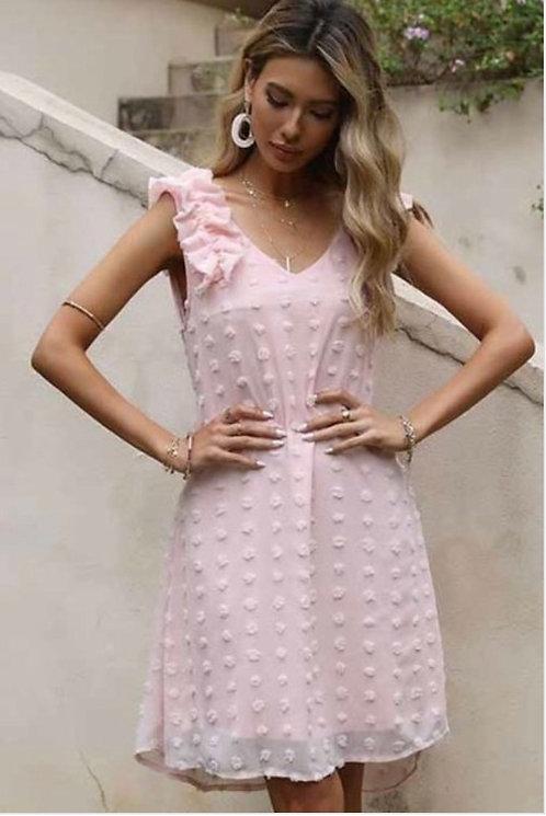 Blush Swiss Dot Dress