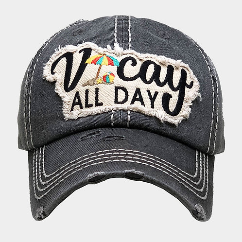 Vacay All Day Baseball Hat