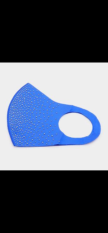 Scattered Bling Mask - Blue