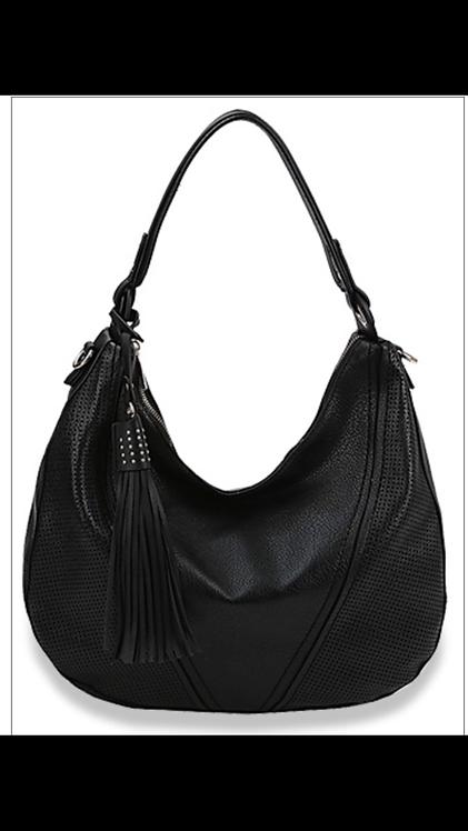 Black Tassel Hobo Handbag