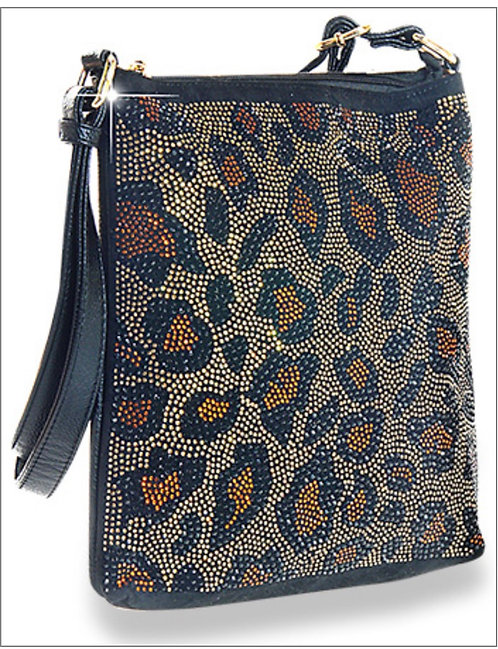 Leopard Bling Messenger