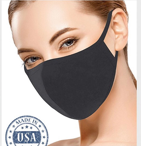 Solid Face Mask - Charcoal
