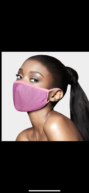 Super Bling Adjustable Mask - Pink