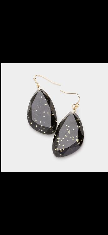 Confetti Dangle Earring - Black