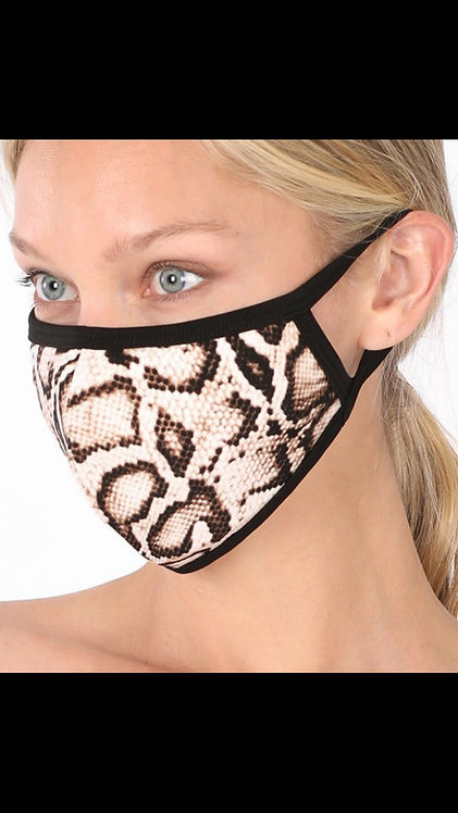 Snake Face Mask - Taupe
