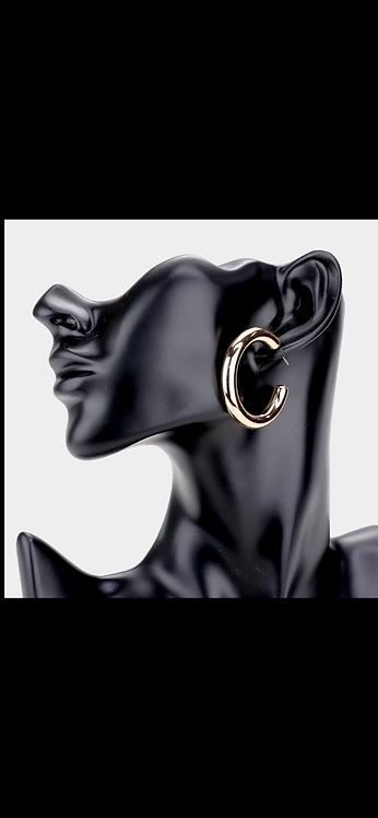 Thin Metal Hoop - Gold