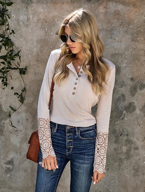 Crochet Sleeve Basic - Oatmeal