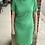 Thumbnail: Green Ribbed Bodycon Dress