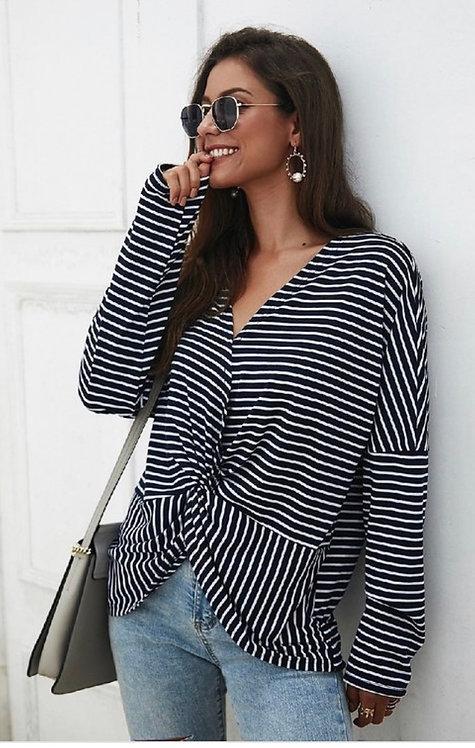 Navy Stripes Long Sleeve