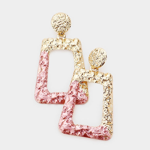 Dipped Statement Dangle - Pink