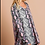 Thumbnail: Pink Snake Pattern Long Sleeve Tunic