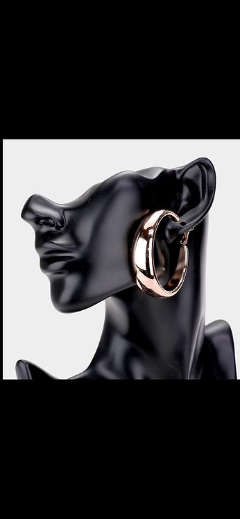Thick Metal Hoop - Rose Gold