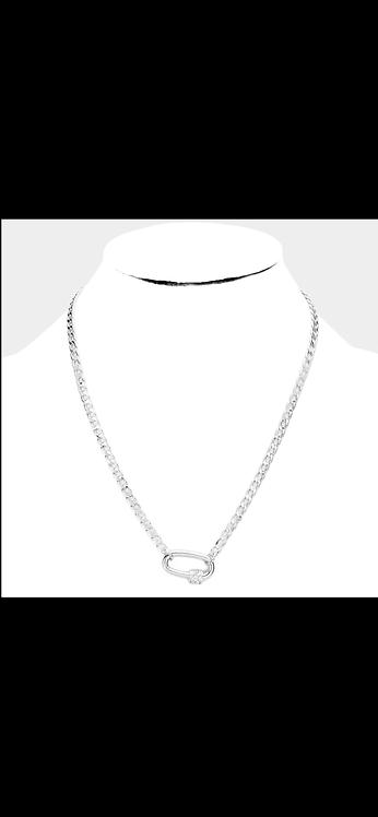 Silver Pave Pendant Chain