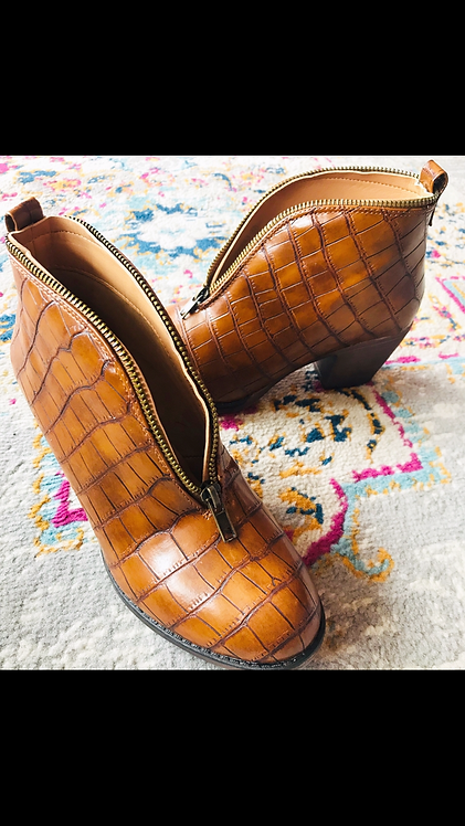 Croc Zipper Bootie