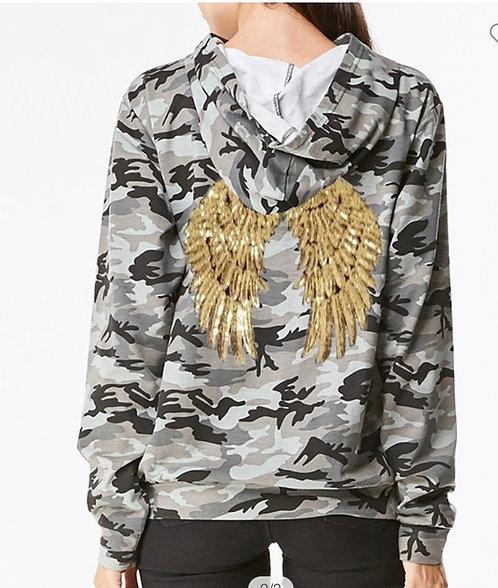 Camo Hoodie - Angel Wings