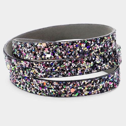 Bling Wrap Bracelet - Black