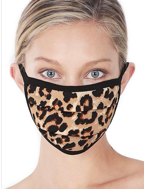 Leopard Mask - Tan