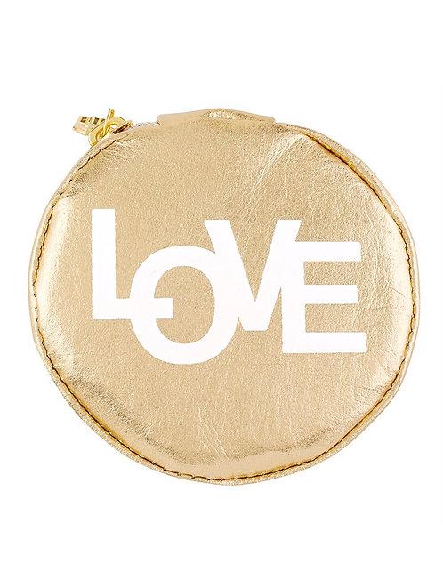 Circular Accessory Pouch - Love