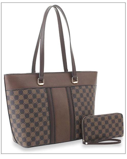 Checkered Shopper Set