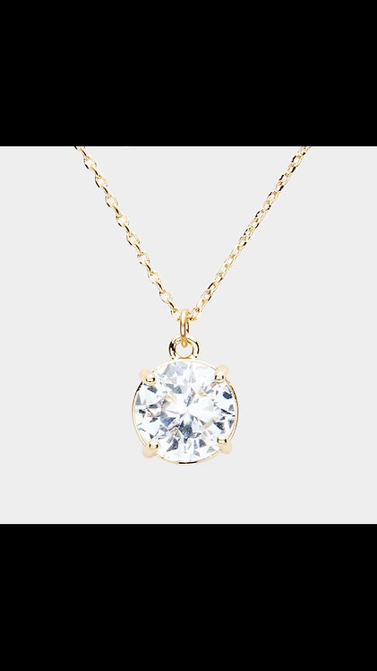 Solitaire Necklace - Gold