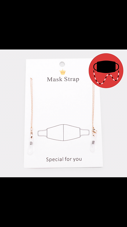 Metal Mask Chain - Rose Gold