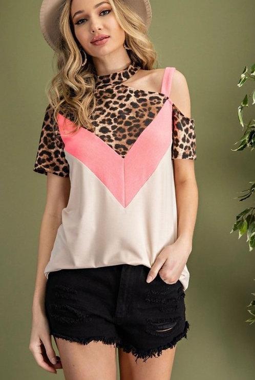 Neon Pink Leopard Shirt