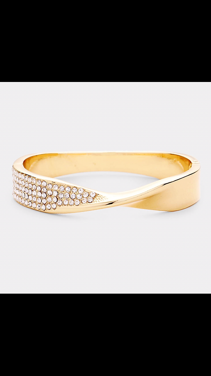 Metal Bling Hinge Bracelet - Gold