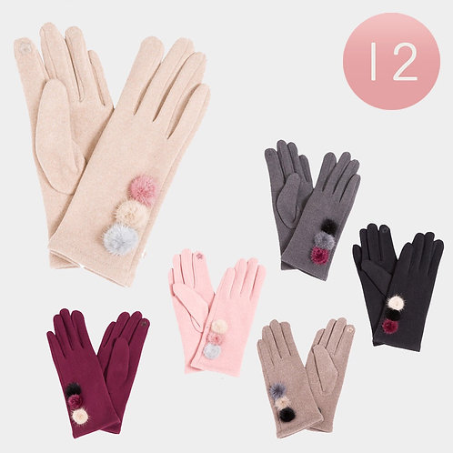 Poofy Ball Gloves - Assorted