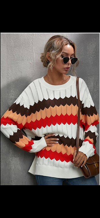 Colorblock Wave Sweater