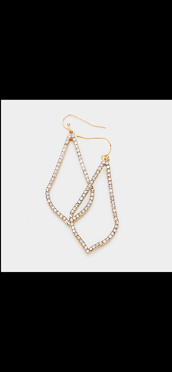Pave Dangle - Gold