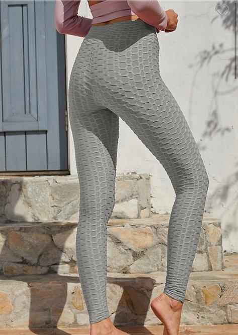 Textured Leggings - Gray