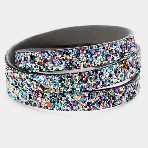 Bling Wrap Bracelet - Blue Multi