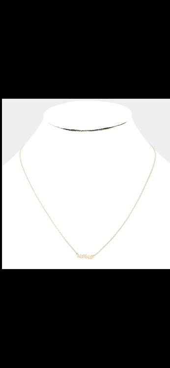 Gold XOXO Delicate Necklace