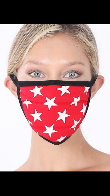 Star Mask - Red