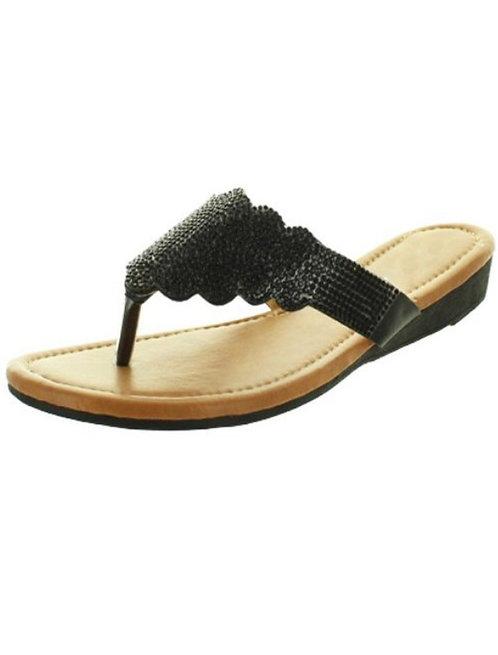 Black Stone Sandal