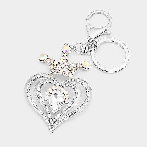 Heart Crown Key Chain